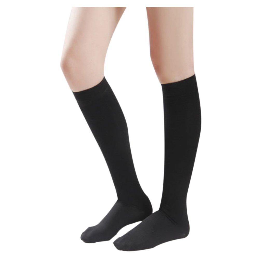 Deylaying Kniehohe abgestufte Kompression Mutterschaft Strümpfe Klasse 3 (40-50 mmHg) - Medizinisch Elastisch Strümpfe Krampfadern Socken
