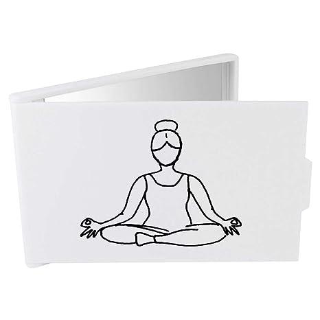 Azeeda Postura de Yoga Espejo Compacto / de Bolsillo ...