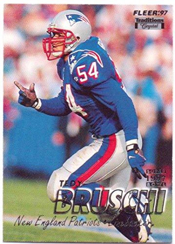 Tedy Bruschi 1997 Fleer Crystal Silver #41 - New England Patriots
