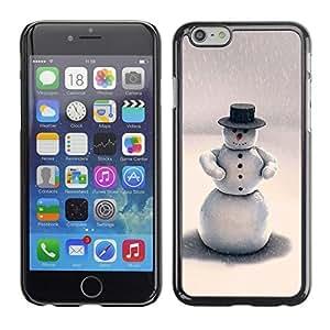 YOYO Slim PC / Aluminium Case Cover Armor Shell Portection //Christmas Holiday Hat Snow man 1197 //Apple Iphone 6
