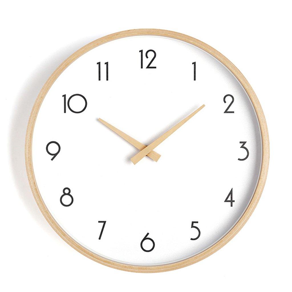ZWD 静かなベッドルームの壁時計、リビングルームコーヒーショップレストランの理髪店ホテルの研究教室書店の壁時計木製の壁時計25.6-40.8CM 飾る (色 : A, サイズ さいず : 35.8 * 35.8CM) B07FRWZLXQ 35.8*35.8CM|A A 35.8*35.8CM