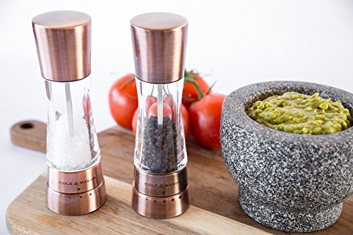 COLE & MASON Derwent Salt and Pepper Grinder Set - Copper Mills Include Gift Box, Gourmet Precision Mechanisms and Premium Sea Salt and Peppercorns by Cole & Mason (Image #4)