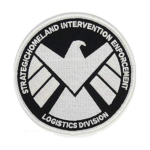 Marvels Agents of S.H.I.E.L.D GLOW IN THE DARK Embroidery Patch Shirts Hats Jackets Bags Halloween Costume Easy Iron On -