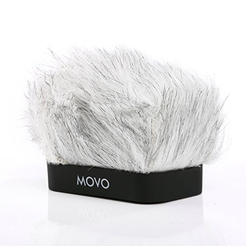Movo WS-R10 Professional Furry Windscreen with Acoustic Foam Technology for Zoom IQ-6, Tascam DR-07 MKII, Sony PCM-M10 & Rode iXY Portable Digital Recorders