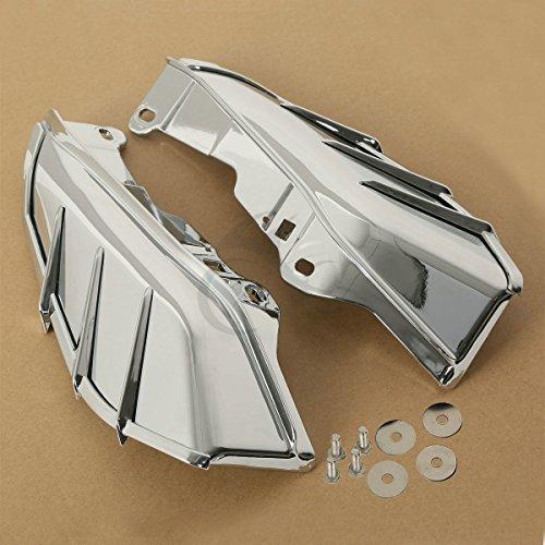 09 Touring Models (TCMT Chrome Mid-Frame Air Deflector For Harley Davidson Touring & Trike models 09-18)