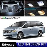 Honda ODYSSEY 2011-2015 Xenon White Premium LED Interior Lights Package Kit (12 Pieces)