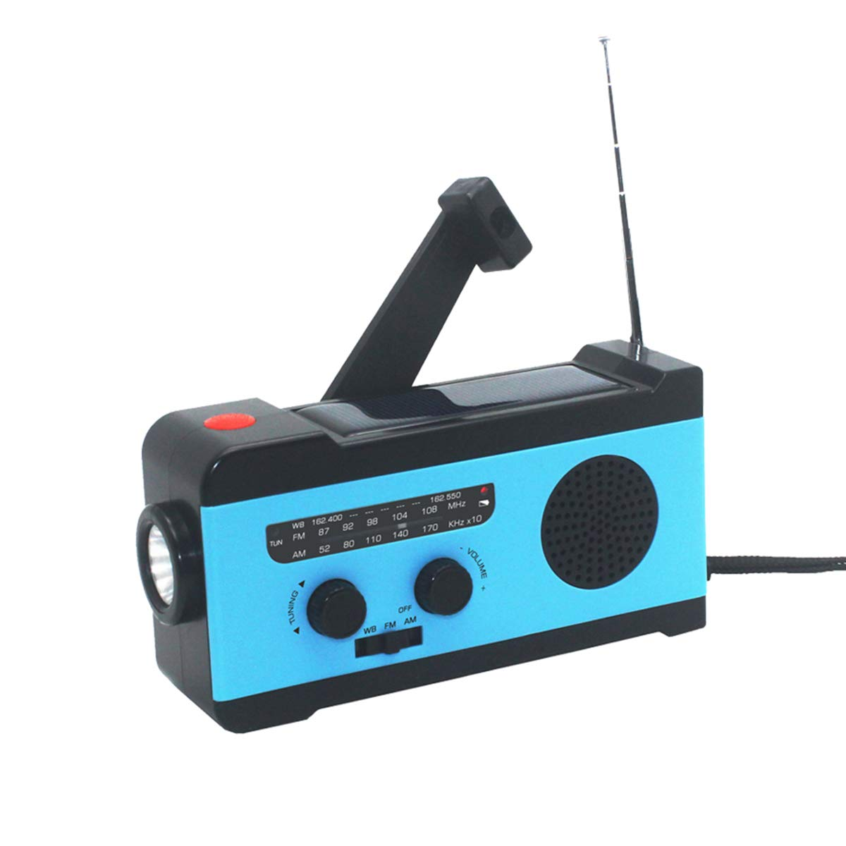 VOSAREA Portable Radio FM Receiver Emergency Radio with Alarm Clock FM Radio FM Receiver