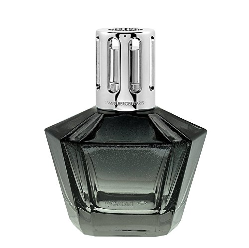 LAMPE BERGER COMETE Duftlampe Set, Glas  schwarz-grau transparent, 7 x 7 x 13.5 cm, 2-Einheiten