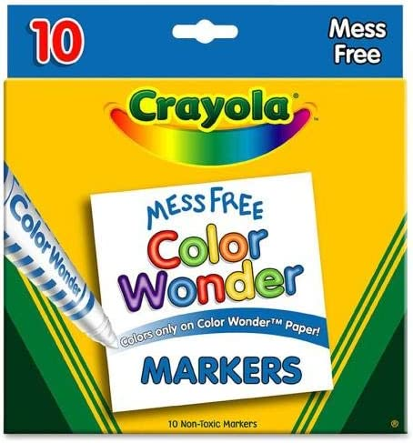 Color Wonder Mess Free Coloring Markers 10 Pack