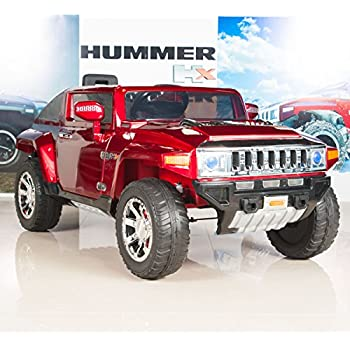 hummer hx kids ride on battery powered electric cartruck with remote control 12 volt red