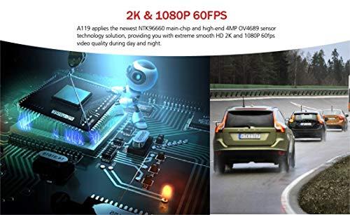 VIOFO Compact A119 V2 (New A119G 2019 Stock) + EVA Foam, 1440p