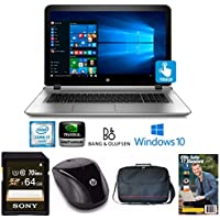 """HP Envy 17-s030nr Core i7, 12GB, NVIDIA 4GB, 17.3"""" FHD Touch LED, Laptop Bundle (Certified Refurbished)"""