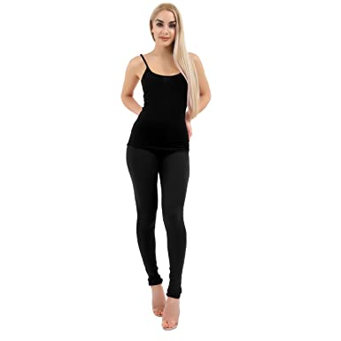 b2051e76f2 Crazy Chick New Deluxe Quality Ladies Cotton Leggings Full Length in All  Sizes and All Colours 8-24  Amazon.co.uk  Clothing