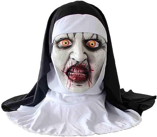 KLJAI Halloween Zombie Adulto Máscara de PVC no tóxica Divertido ...