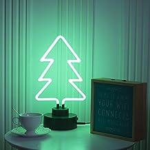 Real Glass Neon Sculpture Christmas Tree Neon Light Neon Sign 37cm x 20cm x 12cm Neon Lamp