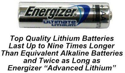 100 AA Energizer L91 Lithium Batteries - Use By 2033