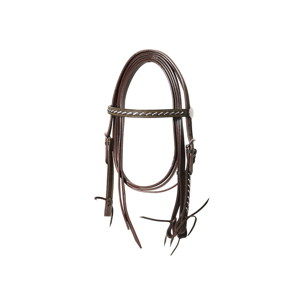 Black Lakota Straight Western Bridle with Reins TG UNICA Various Colours