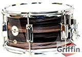 "Popcorn Snare Drum by Griffin | Firecracker 10"" x 6"" Poplar Shell with Zebra Wood PVC