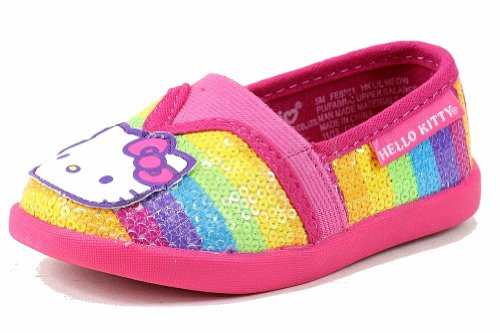 Hello Kitty Girl's HK Lil Meow FE9361 Fashion Sneaker Shoes (12 – Little Kid, Neon Multi)