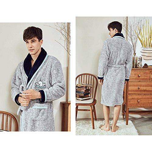 Pigiama Caldo Gaolili Sleep Da Ispessimento Abbigliamento Coppia A Inverno Man Robe Uomo Lunghe Casa Accappatoi Maniche vwgdqnTxq