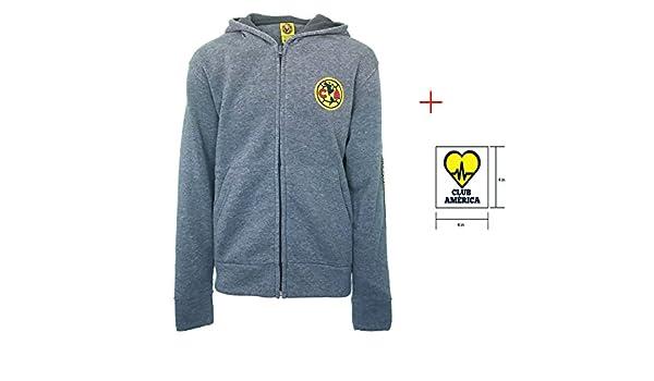 Club America Hoodie Thin Summer Light Zip up Jacket Grey Youth Kids boys