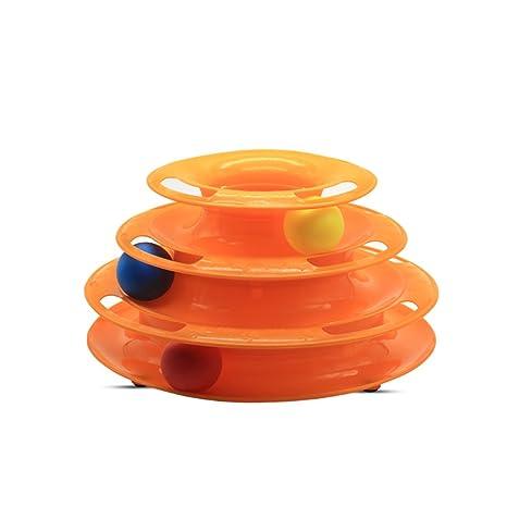 Rastreadores de juguete para gato/pista de bola/pelota + 2 juegos de pelotas
