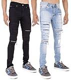 Search : Arrested Development Mens Rip and Zip Super Skinny Stretch Denim Punk Retro Jeans