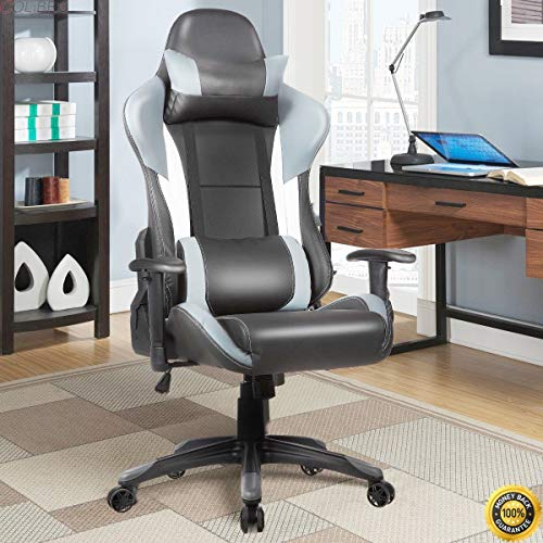 colibrox ergonomic high back racing style gaming chair recliner executive office computer video. Black Bedroom Furniture Sets. Home Design Ideas