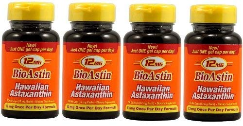 Nutrex Hawaii Bioastin Hawaiin Astaxanthin - 12mg, 50 Gel Caps (pack of 4) by NUTREX HAWAII (Image #2)