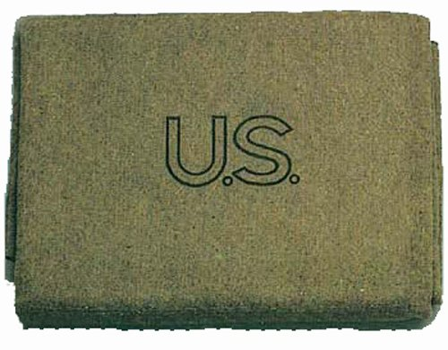 Military Outdoor Clothing U.S. Style Wool 3-Pound Military Blanket (12 blankets)