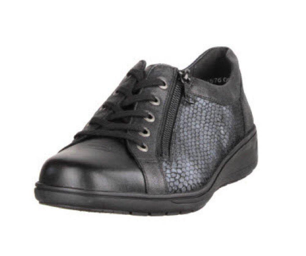 Solidus Kate - Zapatos de cordones para mujer 4,5|Schwarz/Smaragd