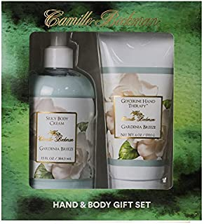 product image for Camille Beckman Hand and Body Duet Set, Silky Body and Glycerine Hand Cream, Gardenia Breeze
