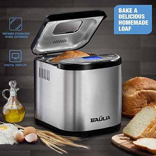 Baulia BM822 Automatic Bread Maker Machine, Gluten/Sugar-Free Functions 15 Programmable Bread Types Settings by Baulia (Image #1)