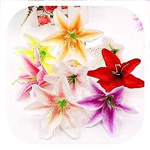 Memoirs- 1Pcs Silk Gradually Orchid Artificial Flower for Wedding Home Decoration DIY Craft Wreath Gift Scrapbook Flower Bouquet Supplies 23