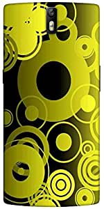 Snoogg Geometric Designer Protective Back Case Cover For One Plus One