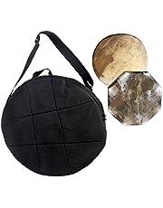 Shaman trumväska rund svart vadderad diameter 40 cm Shaman trumrem