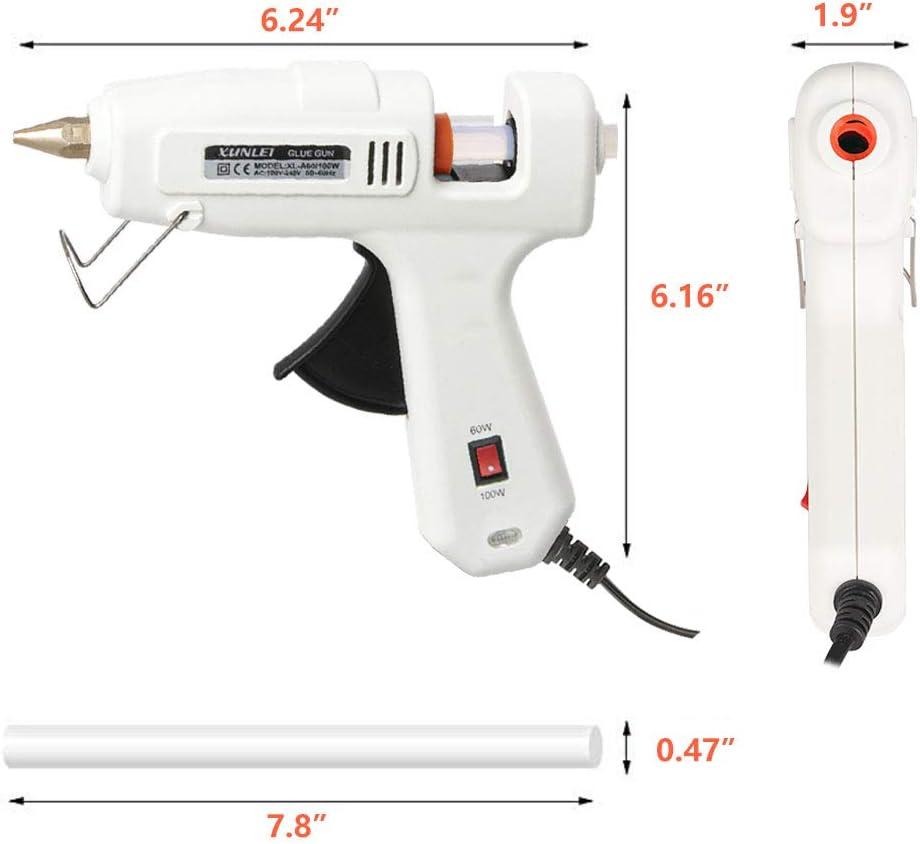 Klebepistole 60//100w Zweileistung mit 20 PCS Klebesticks 11 mm f/ür DIY Handwerk und schnelle Reparaturen Hei/ßklebepistole Heissklebepistole mit kabel