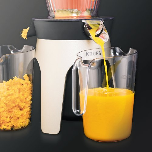 Krups Zb500e Infinity Slow Juice Extractor : KRUPS ZB500E52 Infinity Slow Juice Extractor with 2 ...