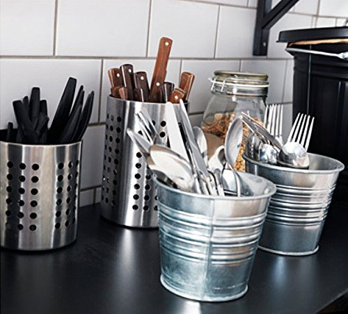 Large Kitchen Utensil Caddy IKEA ORDNING Stainless Steel