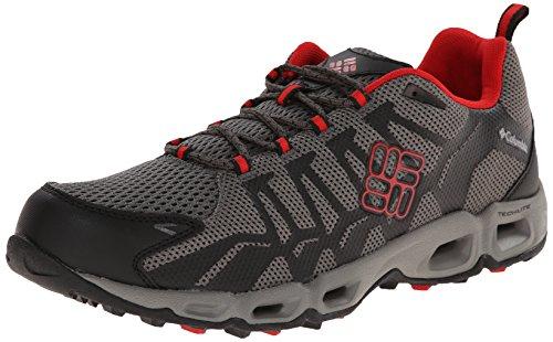 Columbia Men's Ventrailia Trail Shoe, Charcoal/Bright Red, 12 D US
