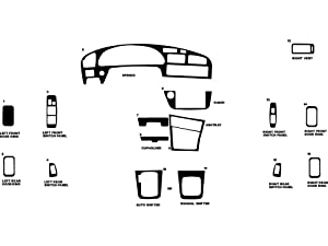 Rdash Dash Kit Decal Trim for Toyota Camry 1992-1996 - Wood Grain (Oak Blonde)