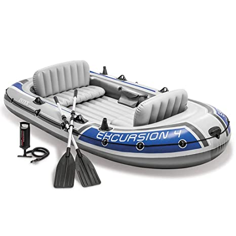 INTEX Barco Hinchable para Cuatro con remos y Bomba, 68324NP ...