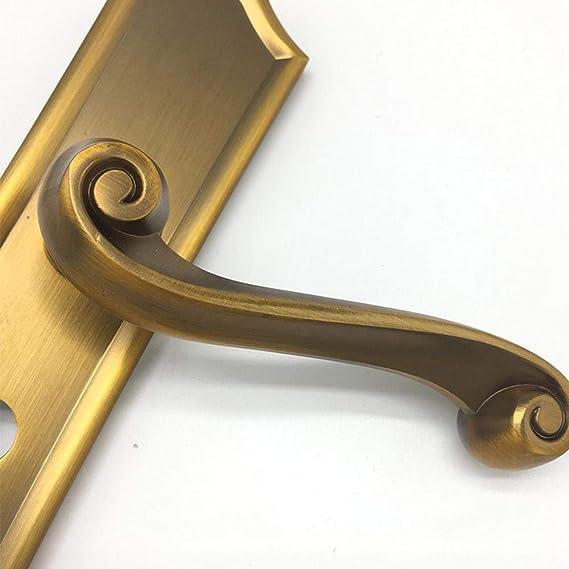 Defect Manija de Puerta Interior Dormitorio Puerta Simple propósito General Inicio Mudo manija Cerradura 122 * 50 * 230 mm: Amazon.es: Hogar