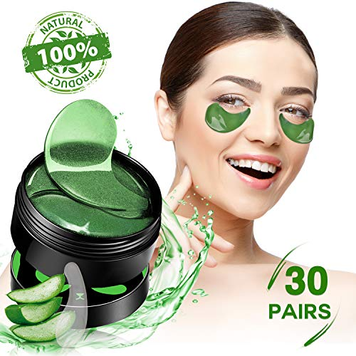 SHVYOG Under Eye Patches - 30 Pairs | Aloe Vera Under Eye Bags Treatment | Anti-Aging Eye Gel Pads | Under Eye Mask with Hyaluronic Acid for Dark Circles, Wrinkles, Puffy Eyes, Fine Lines