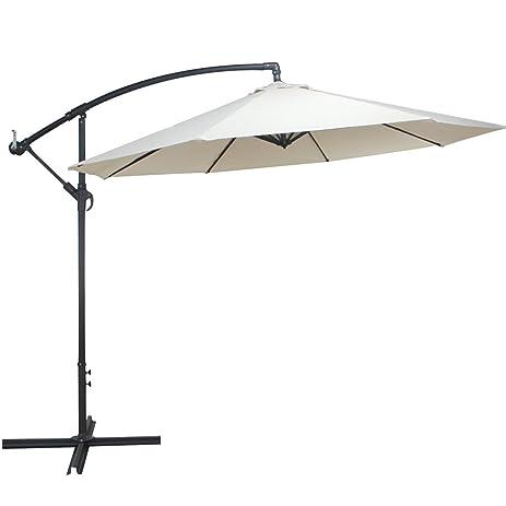 Cloud Mountain 10 Ft Cantilever Patio Umbrella Cantilever Offset Beach Umbrellas  Outdoor UV Resistant Polyester 8