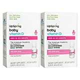 UpSpring Vitamin D Drops for Baby, 400iu Liquid D3 Drops, 2 Boxes, 90 Day Supply Each For Sale