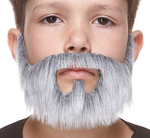 For Beards Fake Kids (Small On bail gray with white fake beard, self)