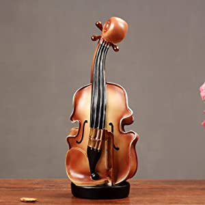 ZGPTX Sculpture Home Decor for Statue Ornament Office Art Sculpture Collectibles Resin Musical Instrument Model Nostalgia Ornament Crafts Antique