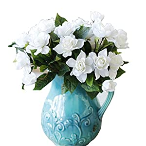 Lopkey Upscale Decor Silk Artificial Gardenia Flower,White