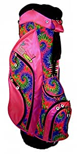 Birdie Babe Womens Golf Bag Pink Tie Dye Ladies Hybrid Stand Golf Bag
